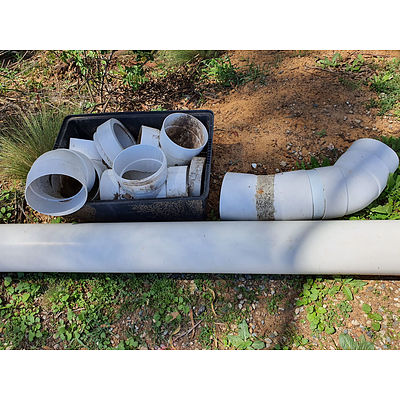 Lot 150 - Large PVC Pipe & Joiners