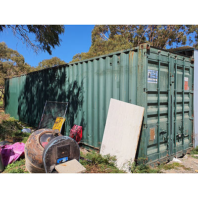 Lot 159 - 40ft Cor-Ten Steel Shipping Container