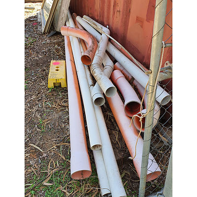 Lot 161 - Assorted PVC Pipes - Bulk Lot