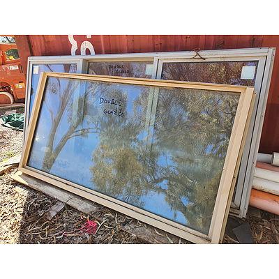 Lot 162 - Large Double Glazed Windows - Lot of 2