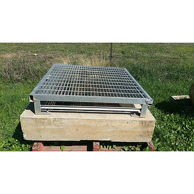 Lot 18 - Concrete Manhole with Steel Grate