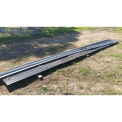 Lot 2 - Assorted Lengths of Corrugated Sheeting & Roof Caps