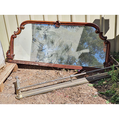 Lot 205 - Antique Style Mirror & Fireplace Bannister