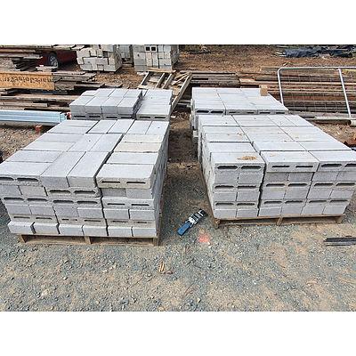 Lot 235 - Skinny Cinder Blocks - Lot of 4 Pallets