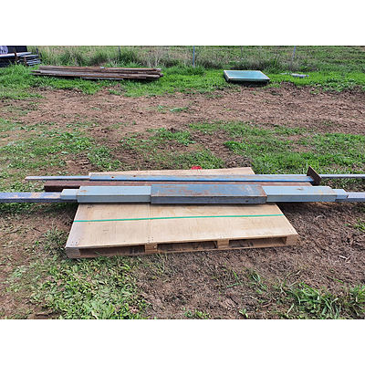 Lot 53 - Assorted Steel Posts & More