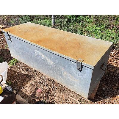 Lot 84 - Galvanised Lockable Tool / Site Box