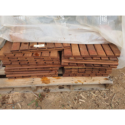 Lot 91 - Timber Outdoor Flooring Panels - Lot of 28