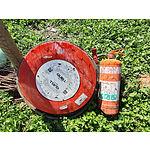 Lot 110 - Fire Hose & Extinguisher
