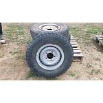 "Lot 41 - Toyota Landcruiser 16"" Factory Steel Wheels - Lot of 4"