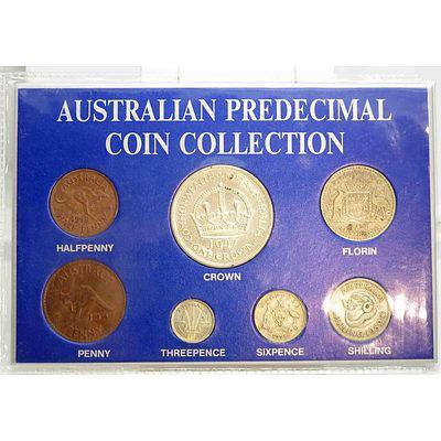 Cased Collection Of Australian Pre-Decimal George VI Coins
