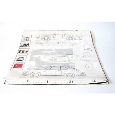 '50 Years Porsche 1948-1998' Calendar for June 1998 to Jan 2000