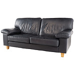 Arthur G Black Leather Upholstered Two Seater Lounge (8425)