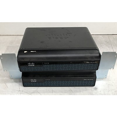Cisco (CISCO1941/K9 V04) 1900 Series Integrated Services Router - Lot of Two