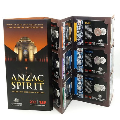 Anzac Spirit Complete Official 2018 Coin Collection - Final Centenary Commemoration