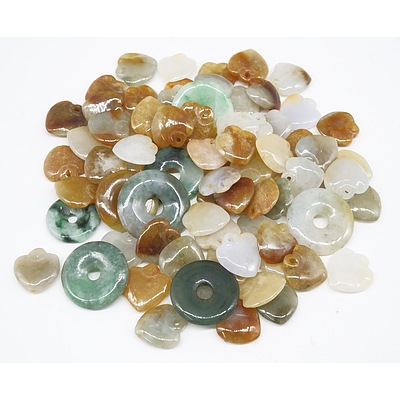 Quantity Agate Disks and Shapes in Various Colors