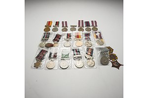 Approximately 30 Medals Mostly Middle Eastern, Including Arabian Resolution Day Jubilee Medal, 1990, Medal of Hijri, 1979 and More