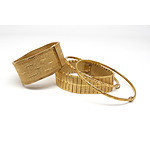 Four Gold Plated Bracelets, Two German