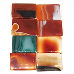 Eight Banded Agate Pendants