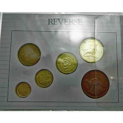 Cased Set Of Australian Pre-Decimal Coins