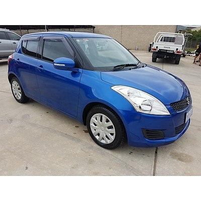 1/2011 Suzuki Swift GL FZ 5d Hatchback Blue 1.4L