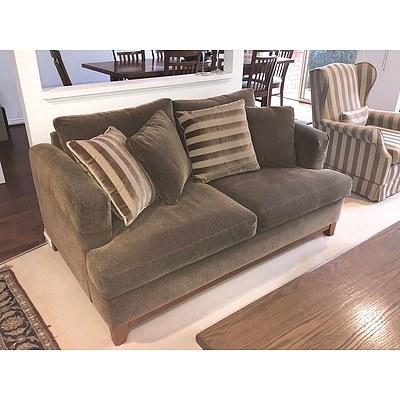 Toledo 2.5 Seater Sofa Dunlop Enduro Foam Cushion Sofa Upholstered in 'New York' Fabric ex Just Looking Furniture