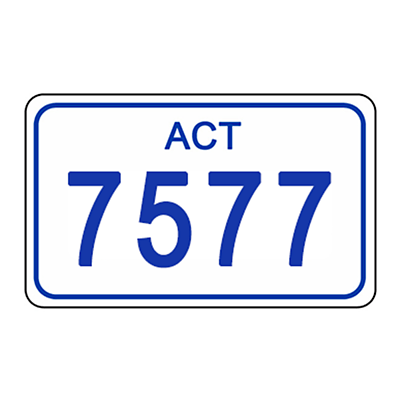 ACT Number Plate 7577