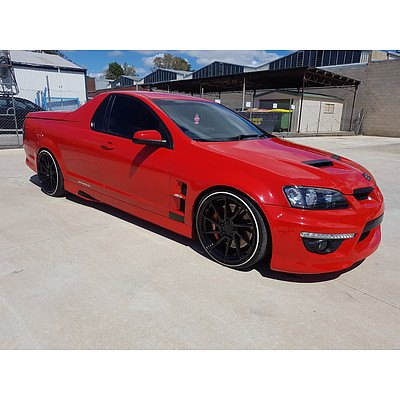 8/2010 Holden Commodore Maloo Replica MY10 Utility Red 6.2L