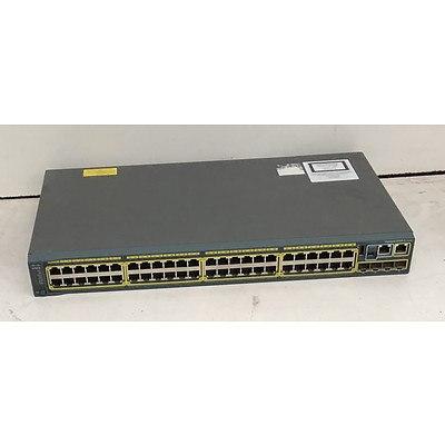 Cisco Catalyst (WS-C2960S-48TS-L V06) 2960-S Series 48-Port Gigabit Managed Switch