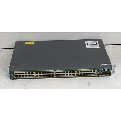 Cisco Catalyst (WS-C2960S-48TS-L V04) 2960-S Series 48-Port Gigabit Managed Switch