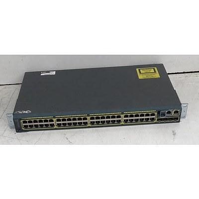 Cisco Catalyst (WS-C2960S-48TS-L V02) 2960-S Series 48-Port Gigabit Managed Switch