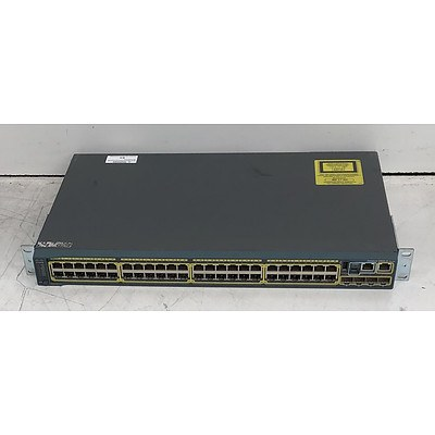 Cisco Catalyst (WS-C2960S-48TS-L V02) 2960-S Series 48-Port Gigabit Managed Switch