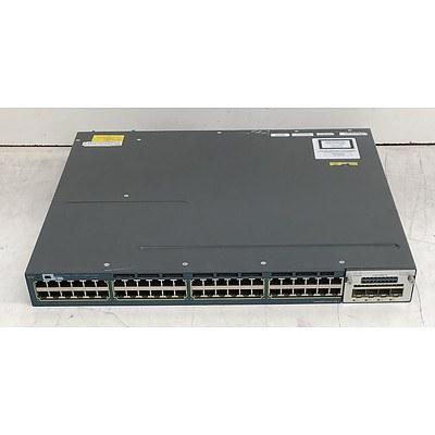 Cisco Catalyst (WS-C3560X-48P-S V06) 3560-X Series PoE+ 48-Port Gigabit Managed Switch