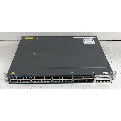 Cisco Catalyst (WS-C3560X-48P-S V02) 3560-X Series PoE+ 48-Port Gigabit Managed Switch