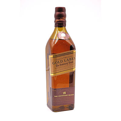 Johnnie Walker Gold Label Mature Scotch Whisky Aged 18 Years, 200ml