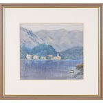 Judy McConchie (1930-) Mountains and Inlet Dubrovnik, Pastel on Paper
