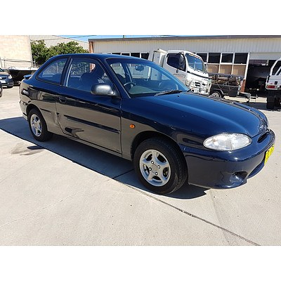2/2000 Hyundai Excel Sprint X3 3d Hatchback Blue 1.5L