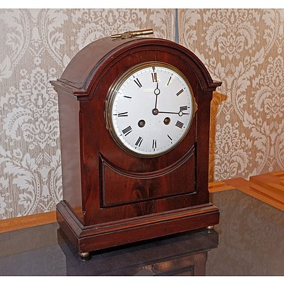 Vintage French Mahogany Cased Mantle Clock
