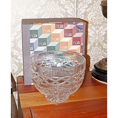 Waterford Cut Crystal Footed Bowl