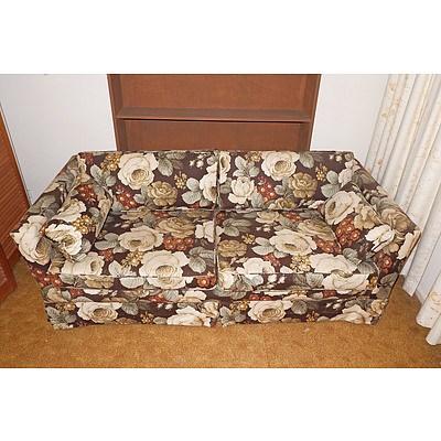 Sanderson Linen Upholstered Fold Out Bed