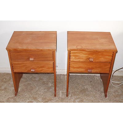 Pair of Bespoke Bedside Tables with Dovetail Joints