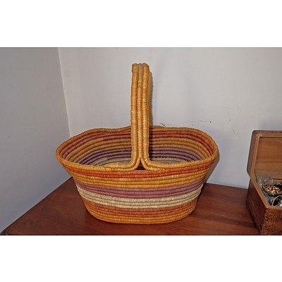 Indigenous Pandanus Fibre Basket