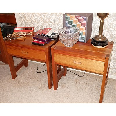 Pair of Pipers Tru-line Tasmanian Blackwood Bedside Tables