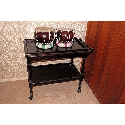 Vintage Oak Drinks Trolley