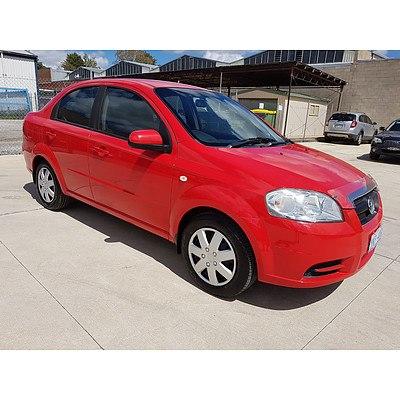 2/2008 Holden Barina  TK MY08 3d Hatchback Red 1.6L