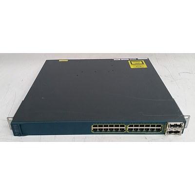 Cisco Catalyst (WS-C3560E-24PD-S V03) 3560-E Series PoE-24 24-Port Gigabit Managed Switch