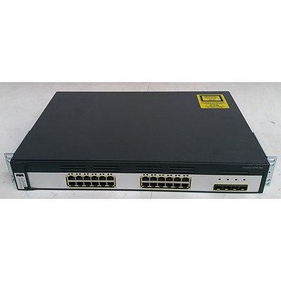Cisco Catalyst (WS-C3750G-24TS-S V08) 3750 Series 24-Port Gigabit Managed Switch