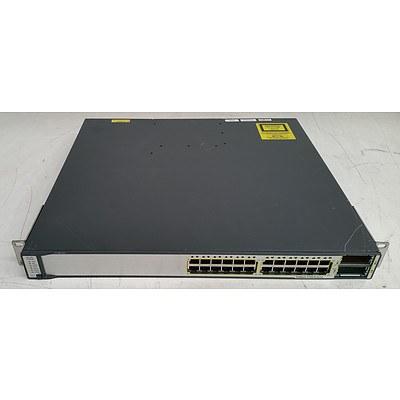 Cisco Catalyst (WS-C3750E-24TD-S V03) 3750-E Series 24-Port Gigabit Managed Switch