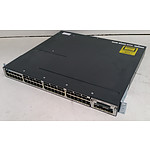 Cisco Catalyst (WS-C3750X-48P-S V01) 3750-X Series PoE+ 48-Port Gigabit Managed Switch