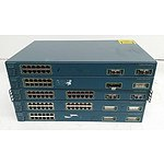 Cisco Catalyst 3500 Series XL Fast Ethernet Switches - Lot of Five
