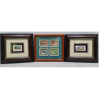 Framed 3D Stamps-Lot Of Three